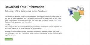 Backup Facebook - confirm