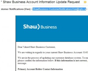 Shaw secure not updating
